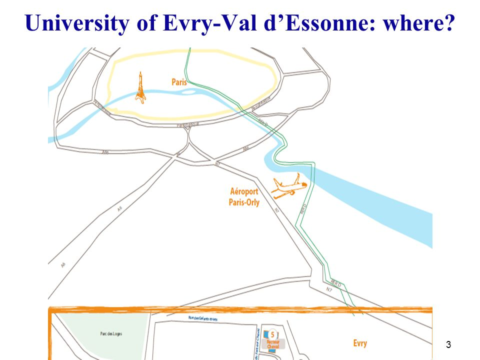 3 University of Evry-Val d'Essonne: where