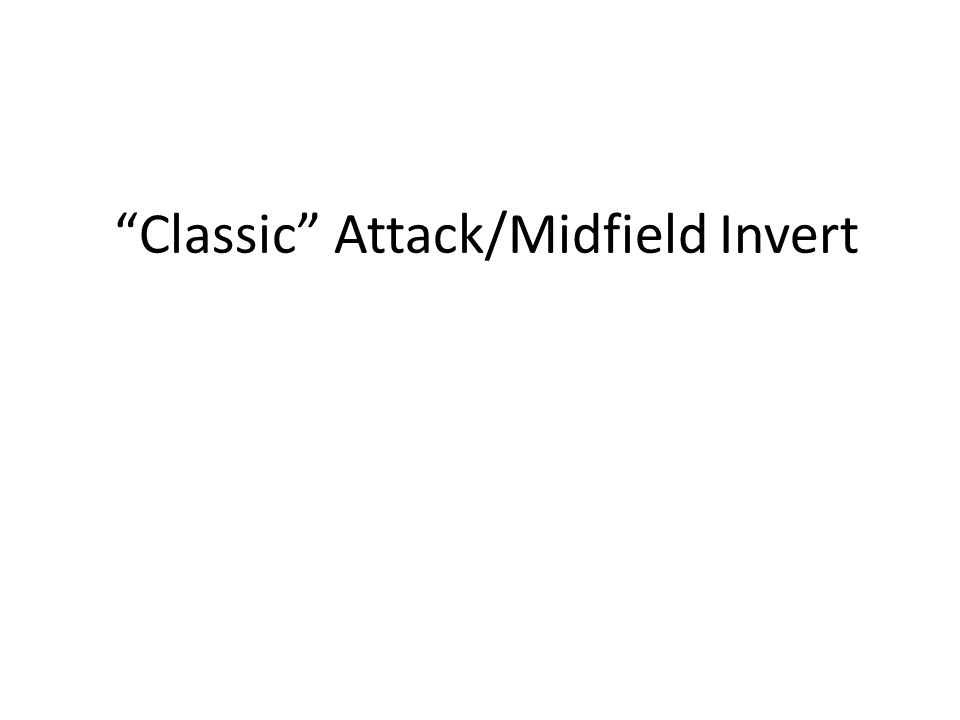 """Classic"" Attack/Midfield Invert"
