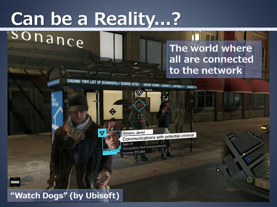 Can be a Reality...? The world where all are connected to the network Watch Dogs (by Ubisoft)
