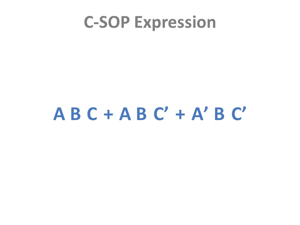 C-SOP Expression