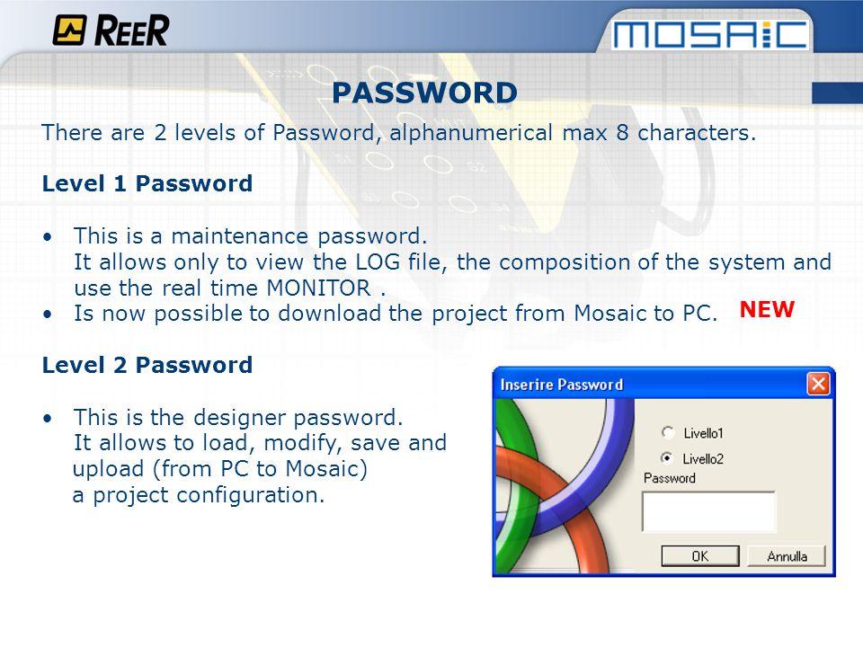 Log File (Level 1 Password).