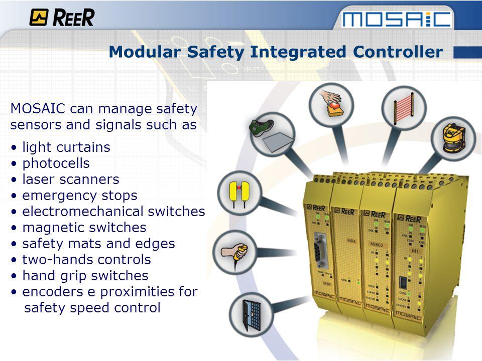 Modular Safety Integrated Controller Safety level SIL 3 - IEC 61508 SIL CL 3- EN 62061 PL e- ISO/EN 13849-1 Category 4 - ISO/EN 13849-1