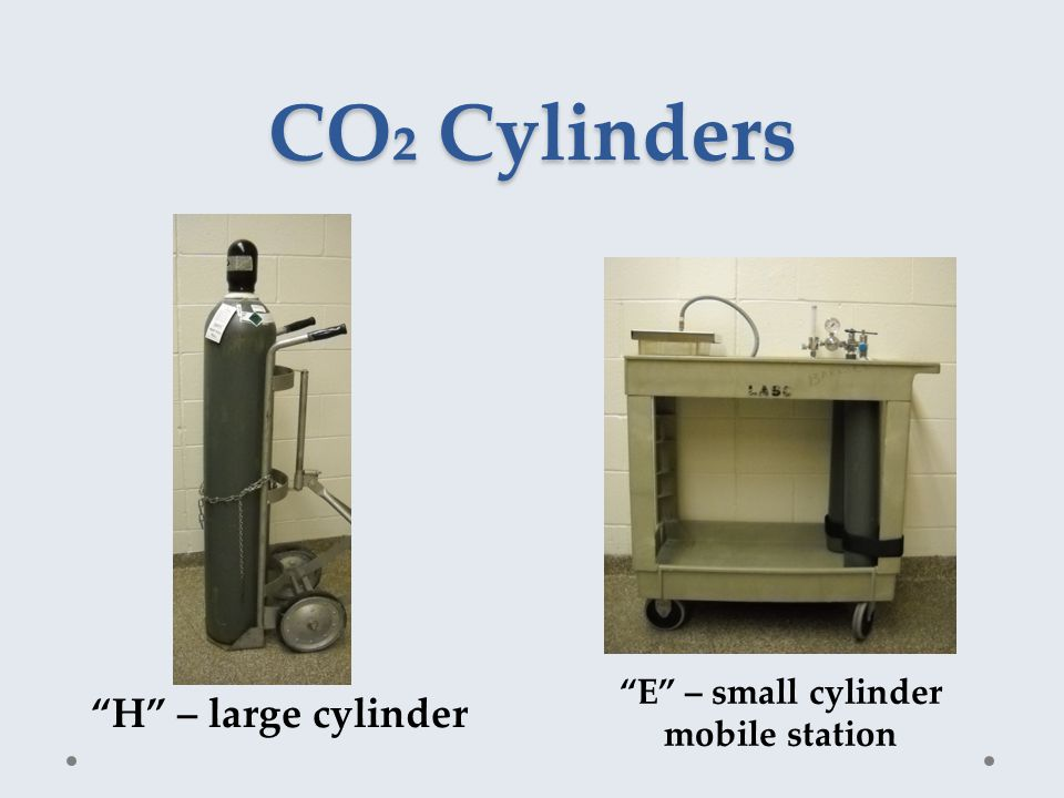 CO₂ Cylinders H – large cylinder E – small cylinder mobile station
