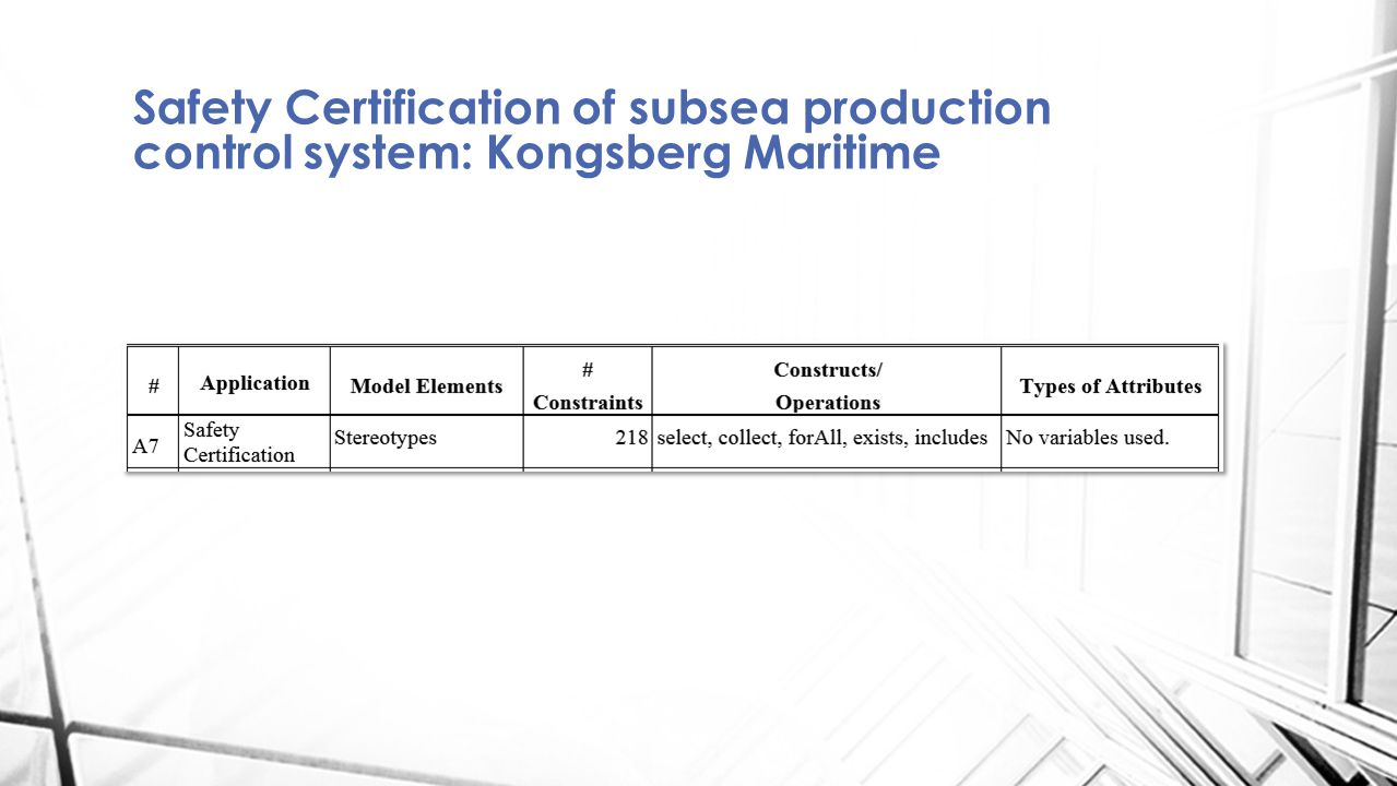 Safety Certification of subsea production control system: Kongsberg Maritime