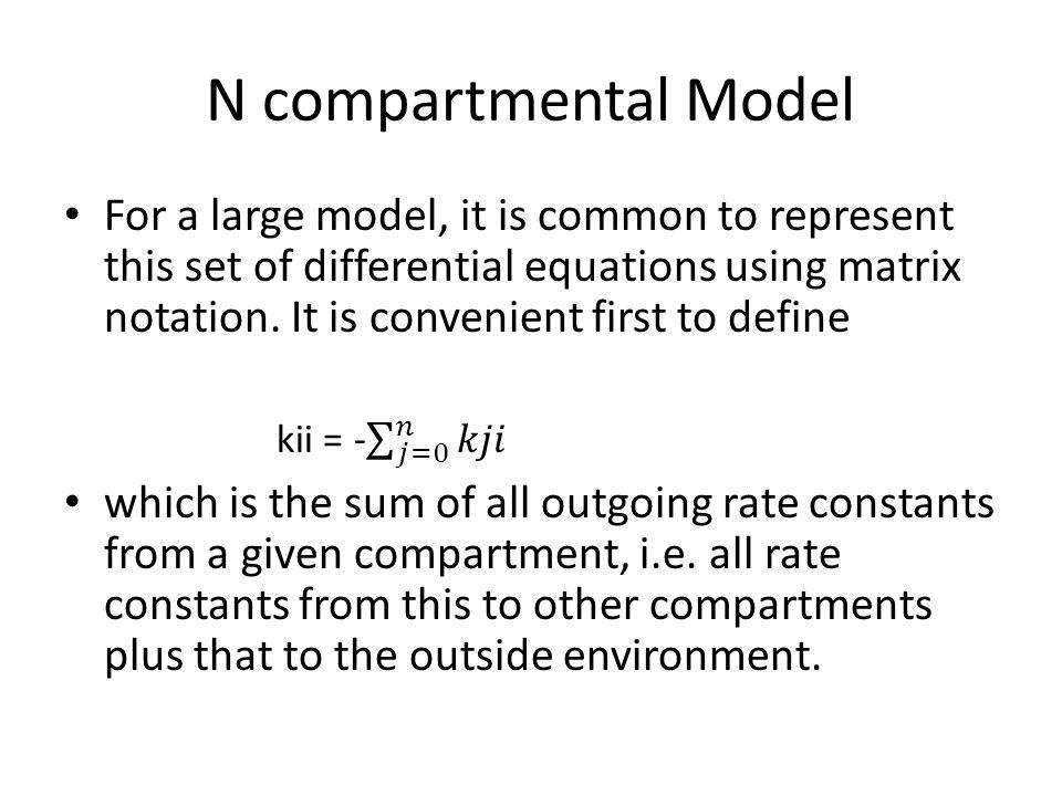 N compartmental Model