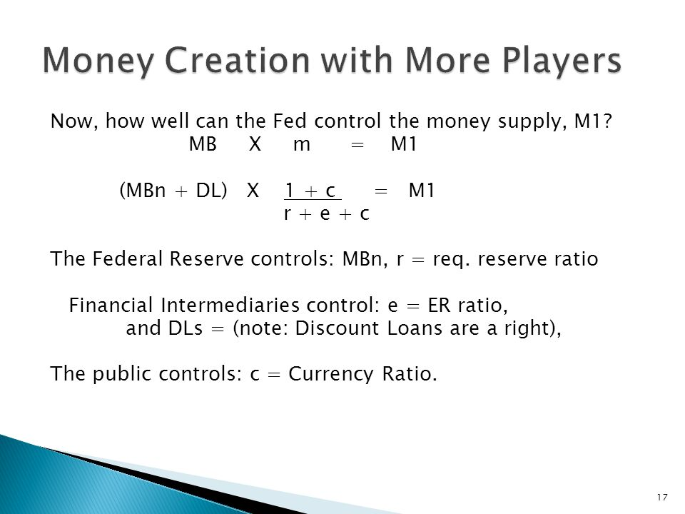 Now, how well can the Fed control the money supply, M1.