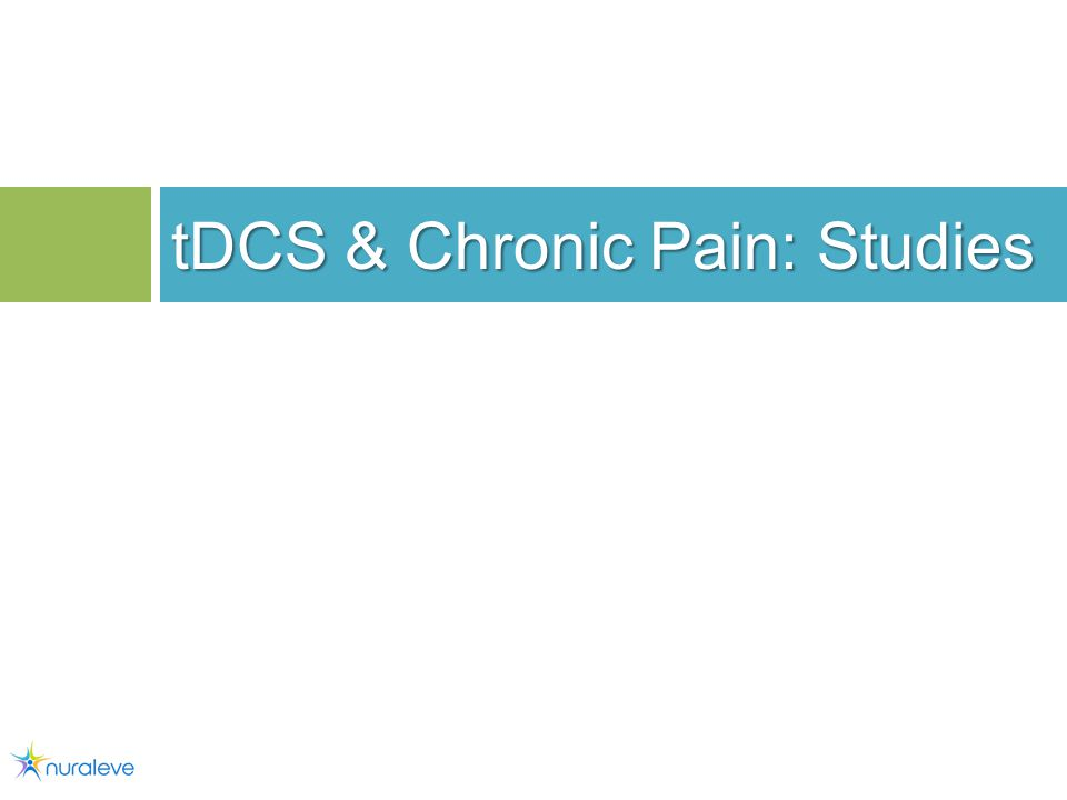 tDCS & Chronic Pain: Studies 19