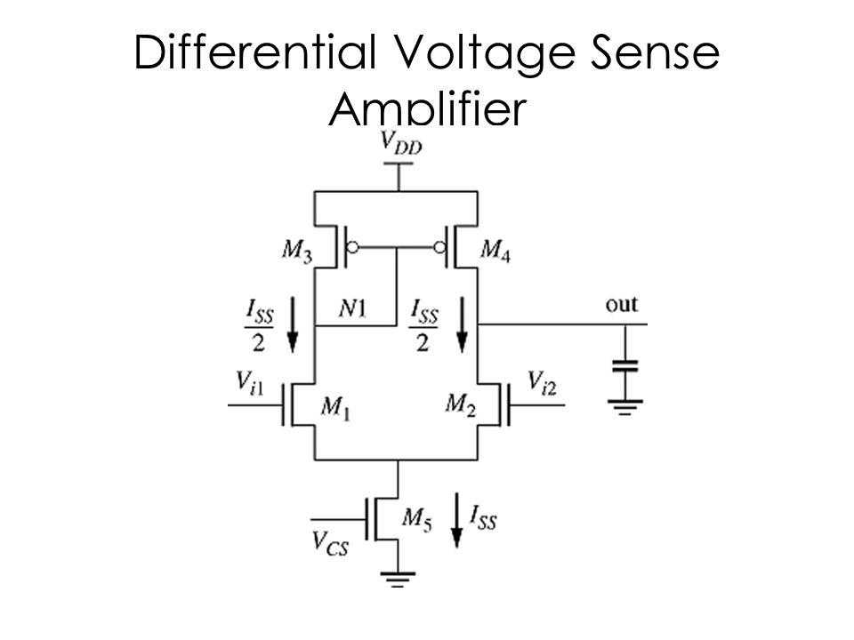 Differential Voltage Sense Amplifier