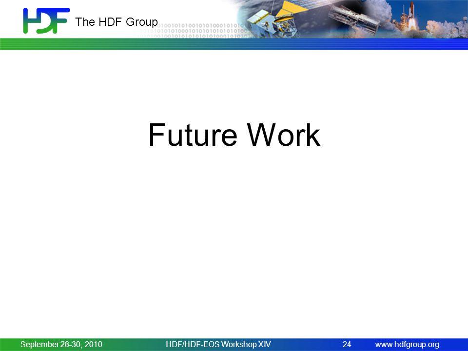www.hdfgroup.org The HDF Group Future Work September 28-30, 2010HDF/HDF-EOS Workshop XIV24