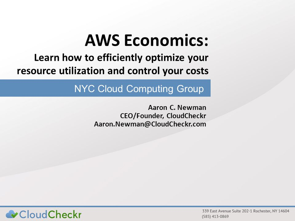 Questions? Questions on: Cloud Computing Resource Utilization Optimizing Your Costs CloudCheckr