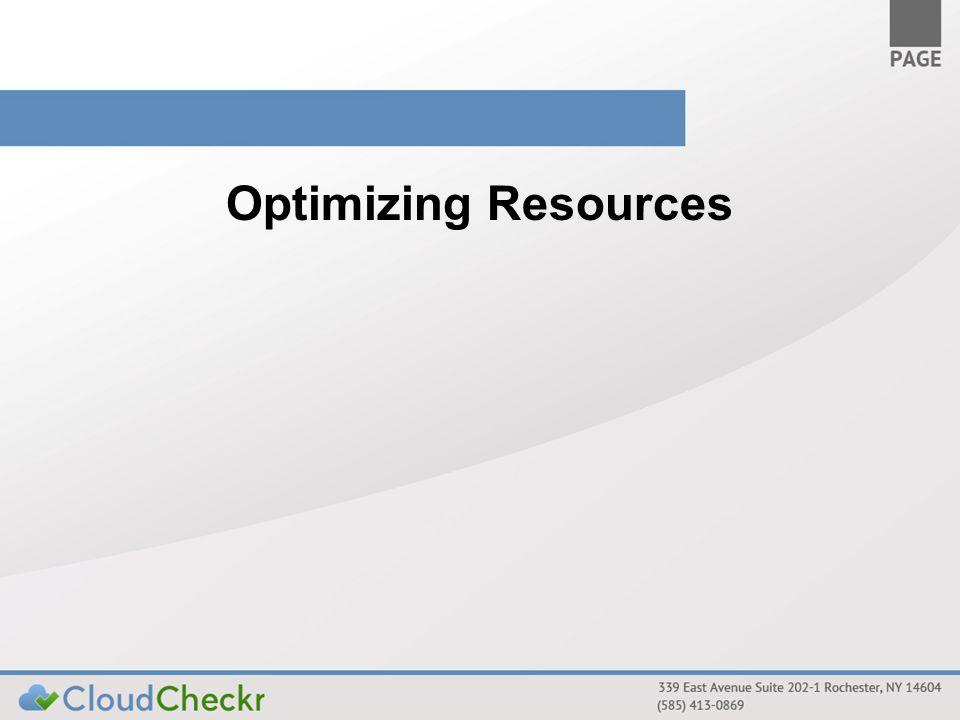Optimizing Resources