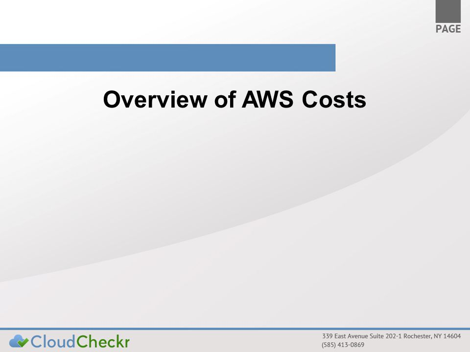 Overview of AWS Costs