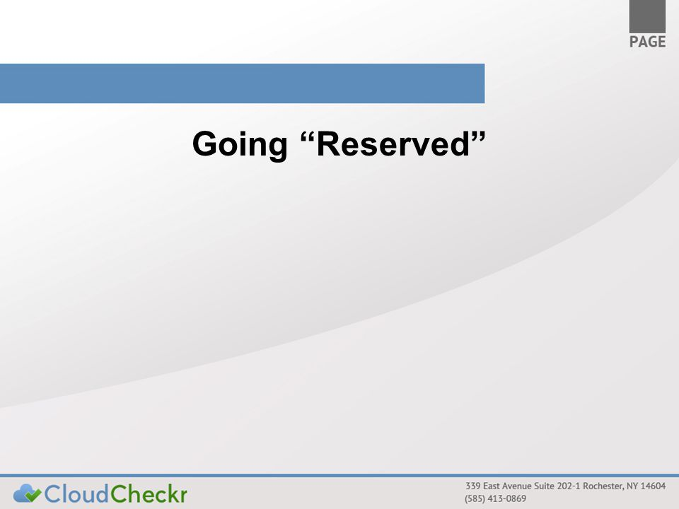 Going Reserved