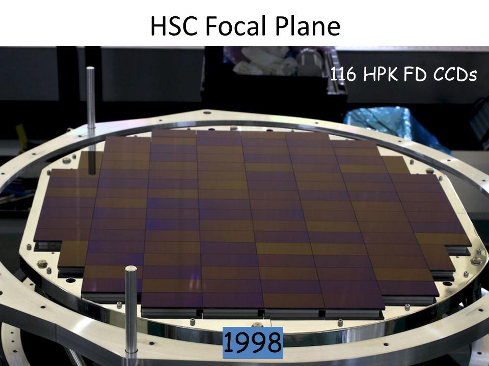 HSC Focal Plane 116 HPK FD CCDs 1998