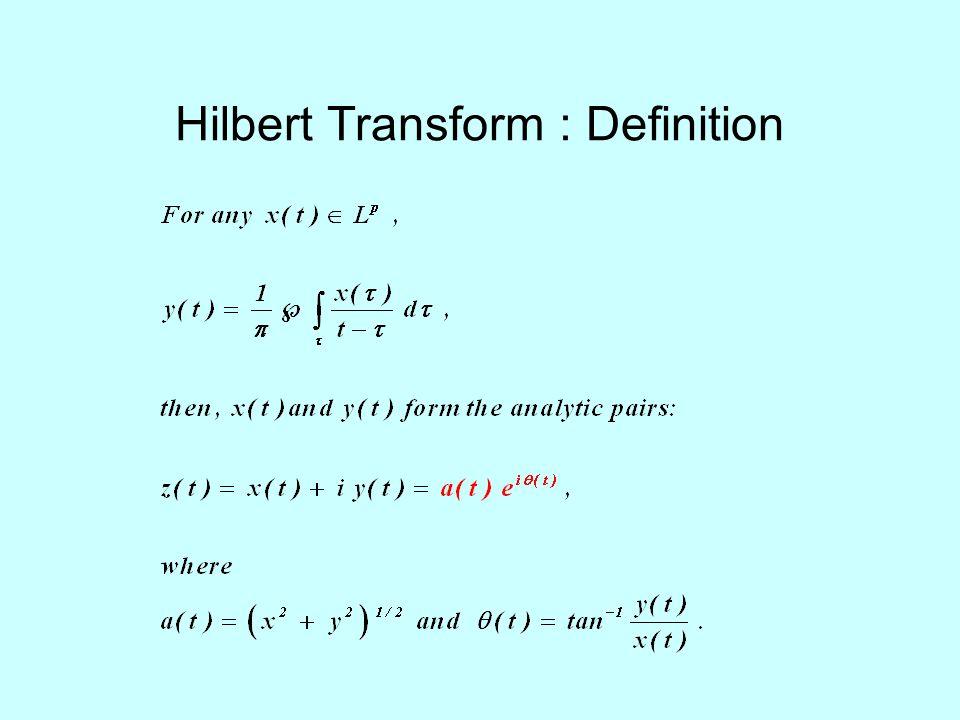 Hilbert Transform : Definition