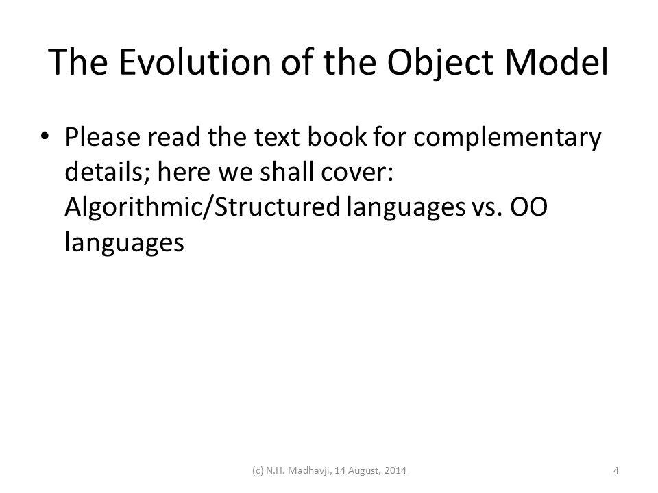 Algorithmic/Structured languages vs.