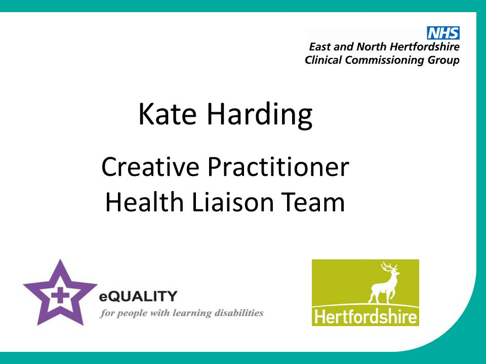 Kate Harding Creative Practitioner Health Liaison Team