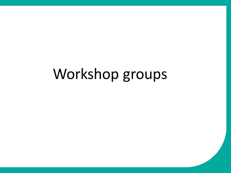 Workshop groups