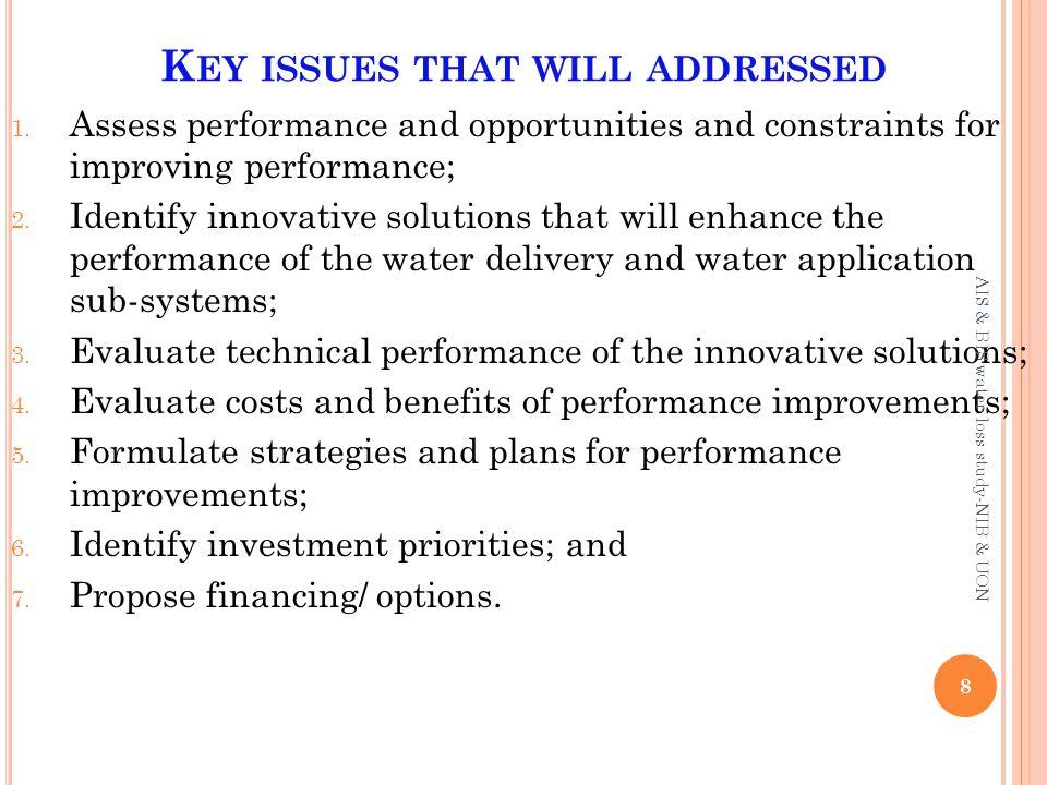 M ETHODOLOGY : SYSTEM CHARACTERIZATION Task 1: Digitizing the network 9 AIS & BIS water loss study-NIB & UON