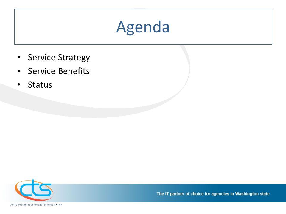 Agenda Service Strategy Service Benefits Status