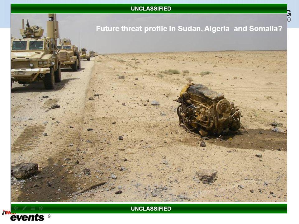 9 Future threat profile in Sudan, Algeria and Somalia?