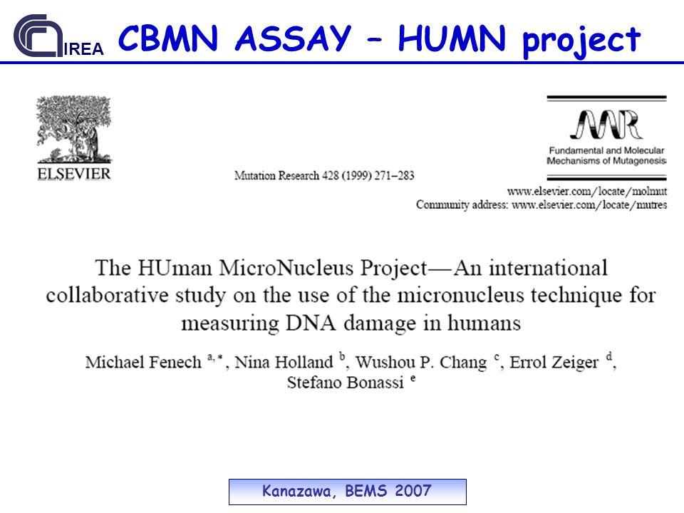 Kanazawa, BEMS 2007 IREA CBMN ASSAY – HUMN project