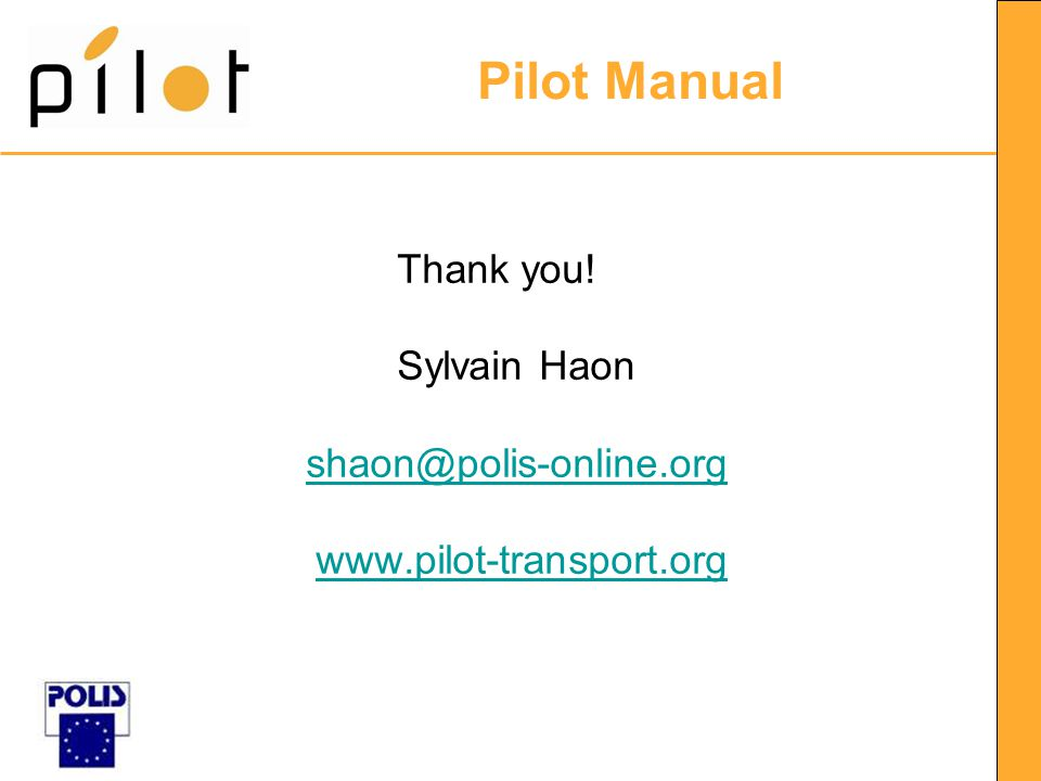 Pilot Manual Thank you.