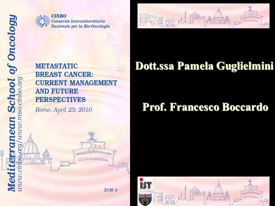 Dott.ssa Pamela Guglielmini Prof. Francesco Boccardo
