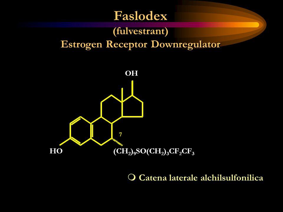 Faslodex (fulvestrant) Estrogen Receptor Downregulator Faslodex (fulvestrant) Estrogen Receptor Downregulator m Catena laterale alchilsulfonilica OH H