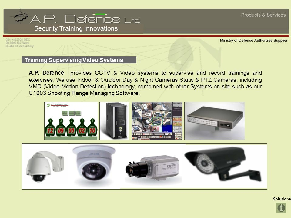 Security Training Innovations Solutions Training Supervising Video Systems A.P.