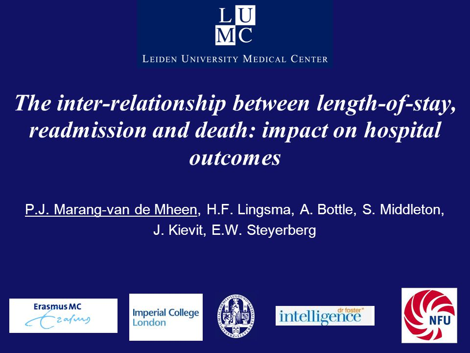 The inter-relationship between length-of-stay, readmission and death: impact on hospital outcomes P.J.