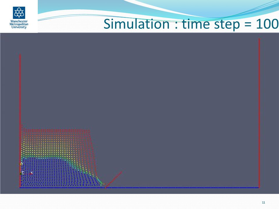 Simulation : time step = 100 11