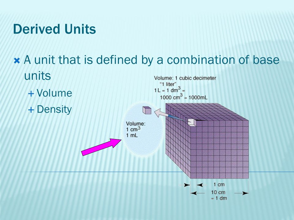 Density  A ratio that compares the mass of an object to its volume  The units for density are often g/cm 3  Formula: