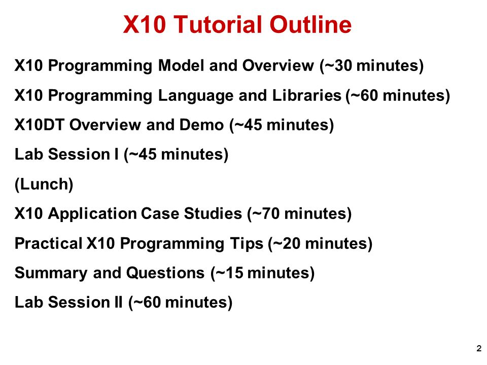 63 Help : Part 2: X10DT Help Various help topics for installing, and using X10DT Help -> Help Contents