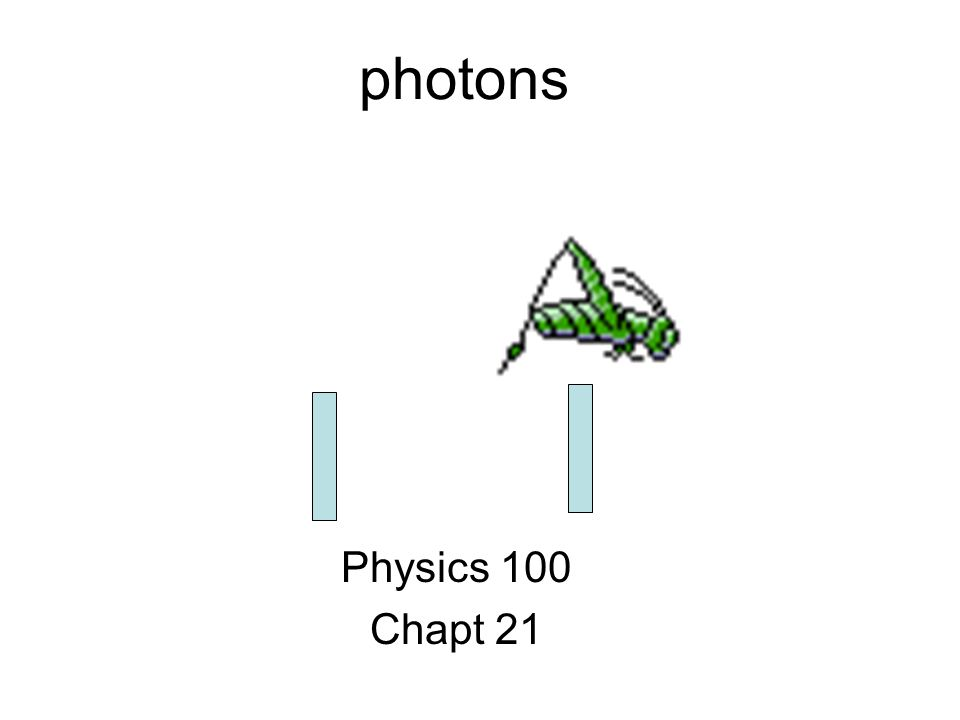 photons Physics 100 Chapt 21