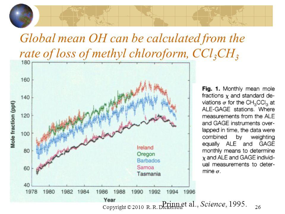 Copyright © 2010 R. R. Dickerson26 Prinn et al., Science, 1995.