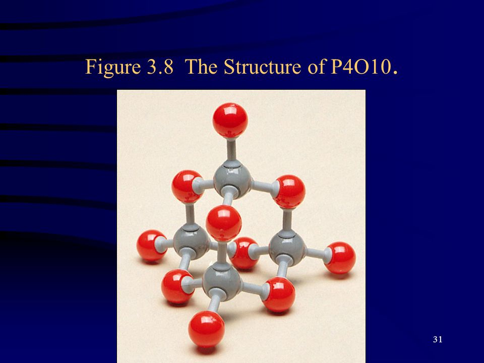 Copyright©2000 by Houghton Mifflin Company. All rights reserved. 31 Figure 3.8 The Structure of P4O10.