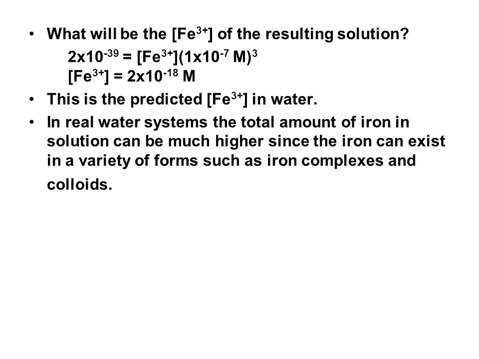 What will be the [Fe 3+ ] of the resulting solution.