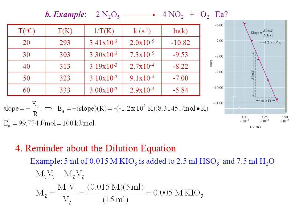 b. Example: 2 N 2 O 5 4 NO 2 + O 2 Ea. 4.