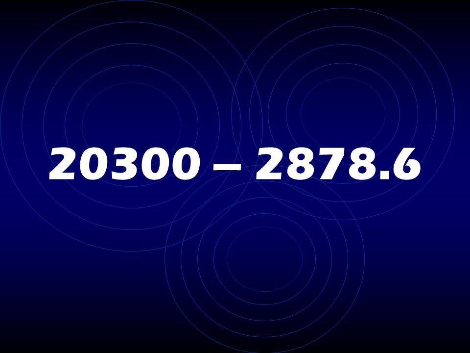 20300 – 2878.6