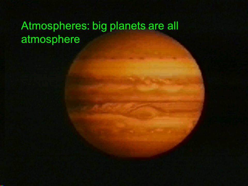 Atmospheres: big planets are all atmosphere