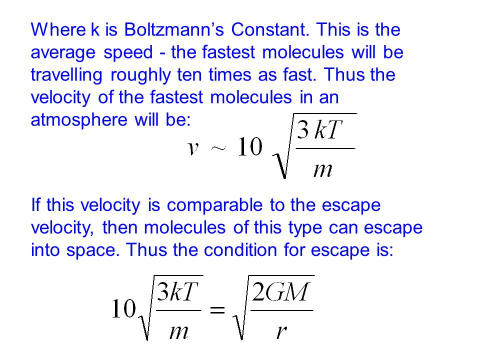 Where k is Boltzmann's Constant.