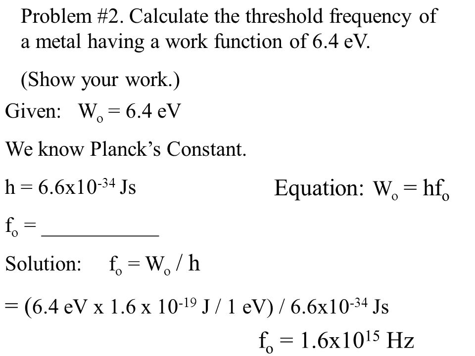 Can you then come-up with the equation for the momentum of a photon.