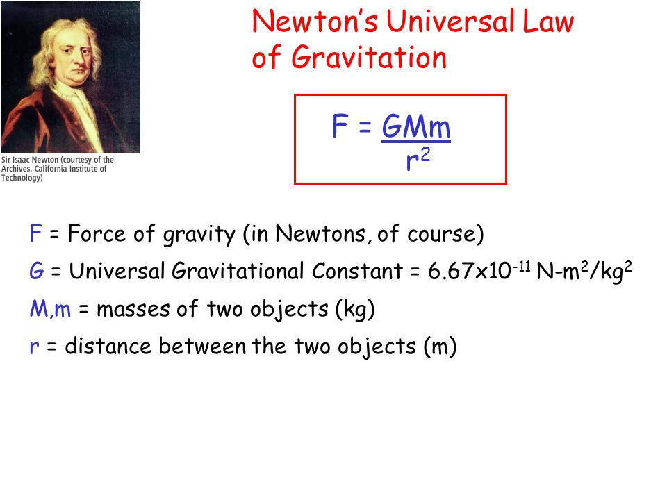 Gravitational Acceleration g = GM r2r2 Using this formula, we can weigh Earth.