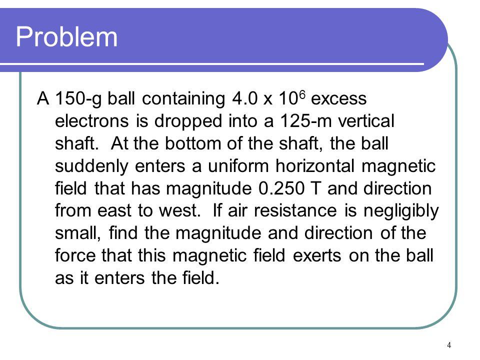 5 Prep Work q=4 x 10 6 e = 4 x 10 6 * 1.602 x 10 -19 q=6.408 x 10 -11 No air resistance so mechanic energy, E=KE+U is conserved.
