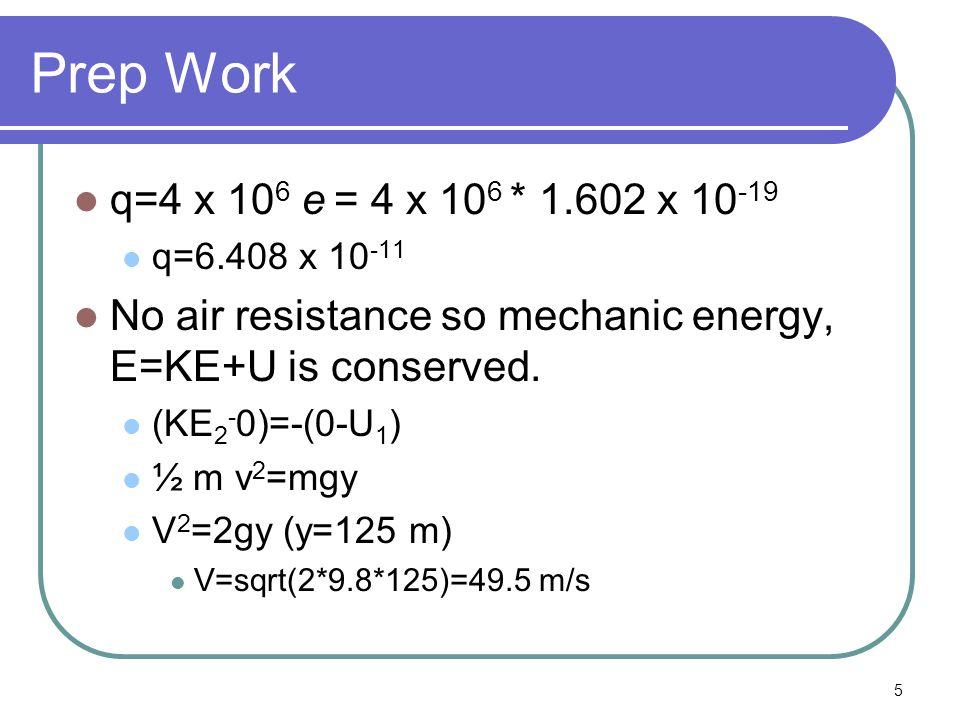 6 F=qv x B   F  =qvB=6.408x10 -11 *49.5*0.250   F  =7.93 x 10 -10 N Direction Force is north N W E S B Up Down v F