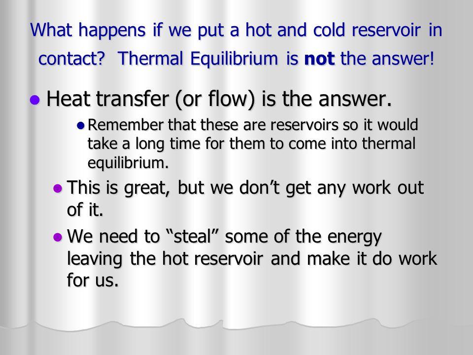 Efficiency W net =Q net =Q hot -Q cold W net =Q net =Q hot -Q cold or Eff=W net /Q hot =(1-Q cold /Q hot ) or Eff=W net /Q hot =(1-Q cold /Q hot ) Ex: A steam engine absorbs 1.98 x10 5 J and expels 1.49 x10 5 J in each cycle.