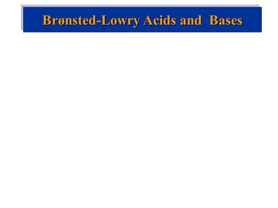 Brønsted-Lowry acid is a proton donor.