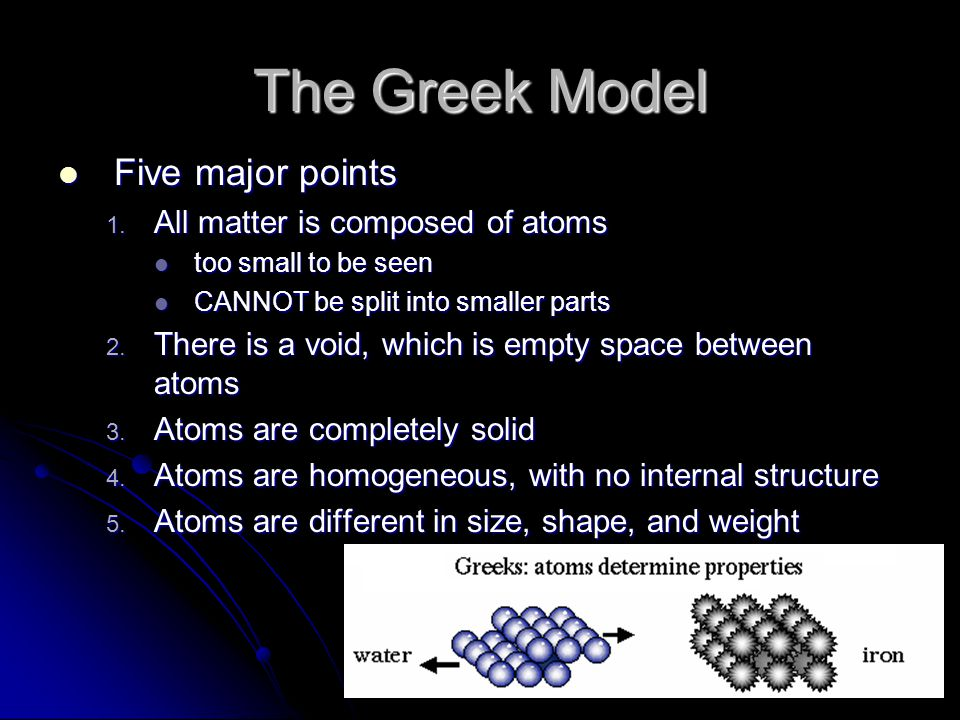 The Greek Model Five major points Five major points 1.