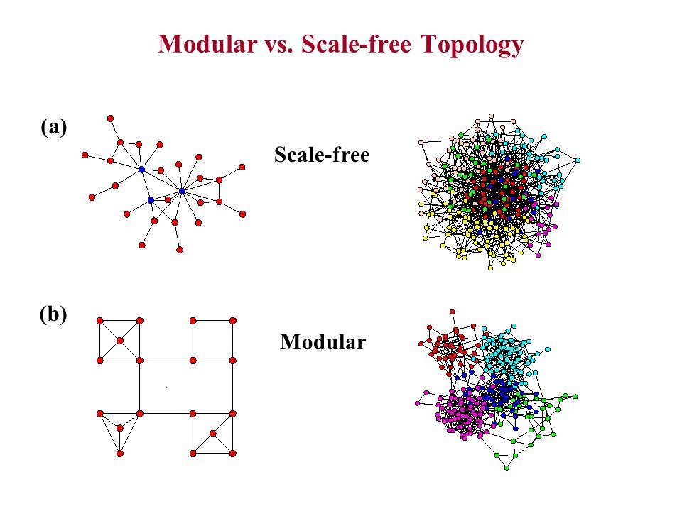 Modular vs. Scale-free Topology Scale-free (a) Modular (b)